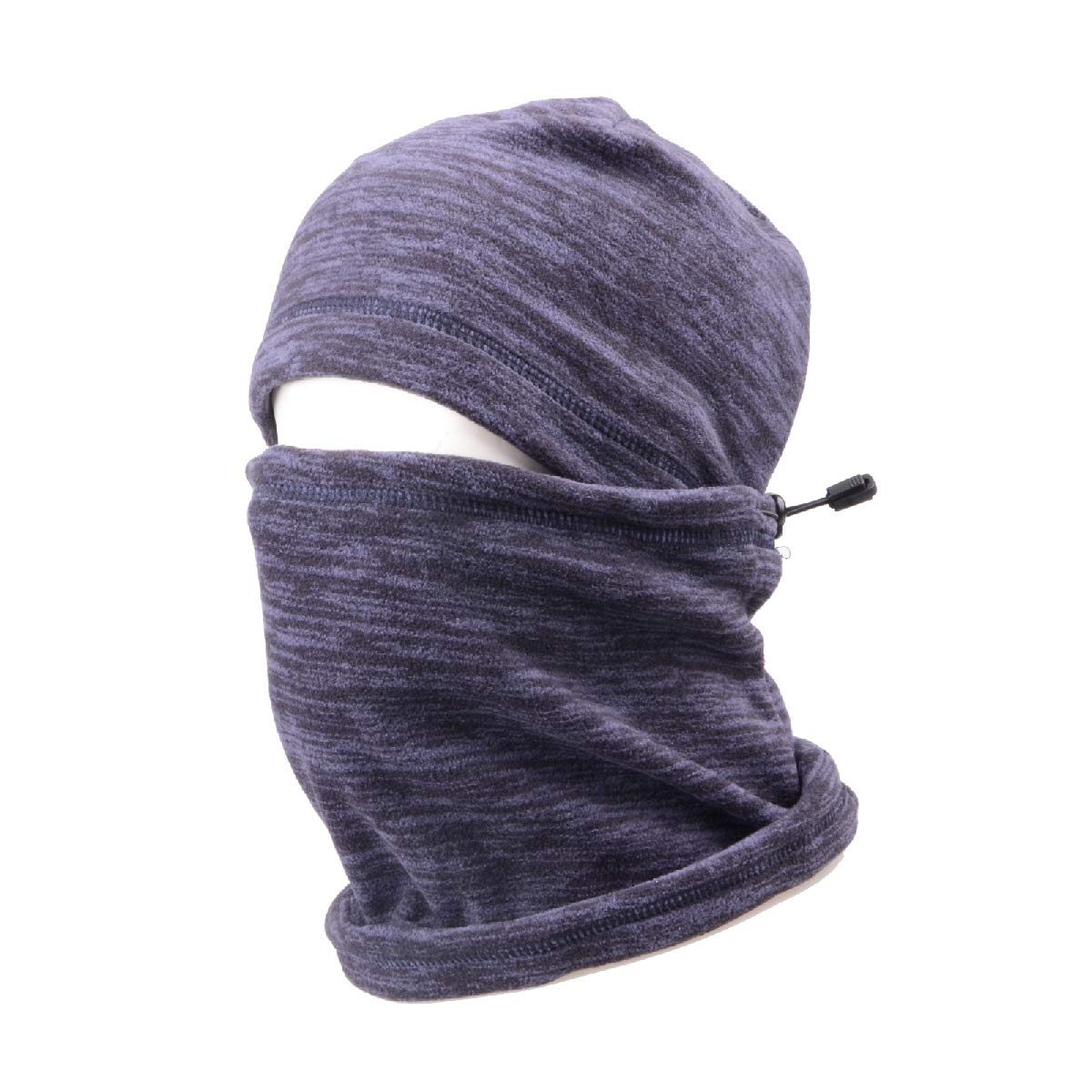 Triwonder Balaclava Hood Hat Thermal Fleece Face Mask Neck Warmer Winter Ski Mask Full Face Cover Cap (Blue - 17) OS1710BE