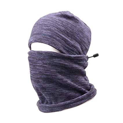 TRIWONDER Balaclava Hood Hat Thermal Fleece Face Mask Neck Warmer Winter  Ski Mask Full Face Cover 578750f1815