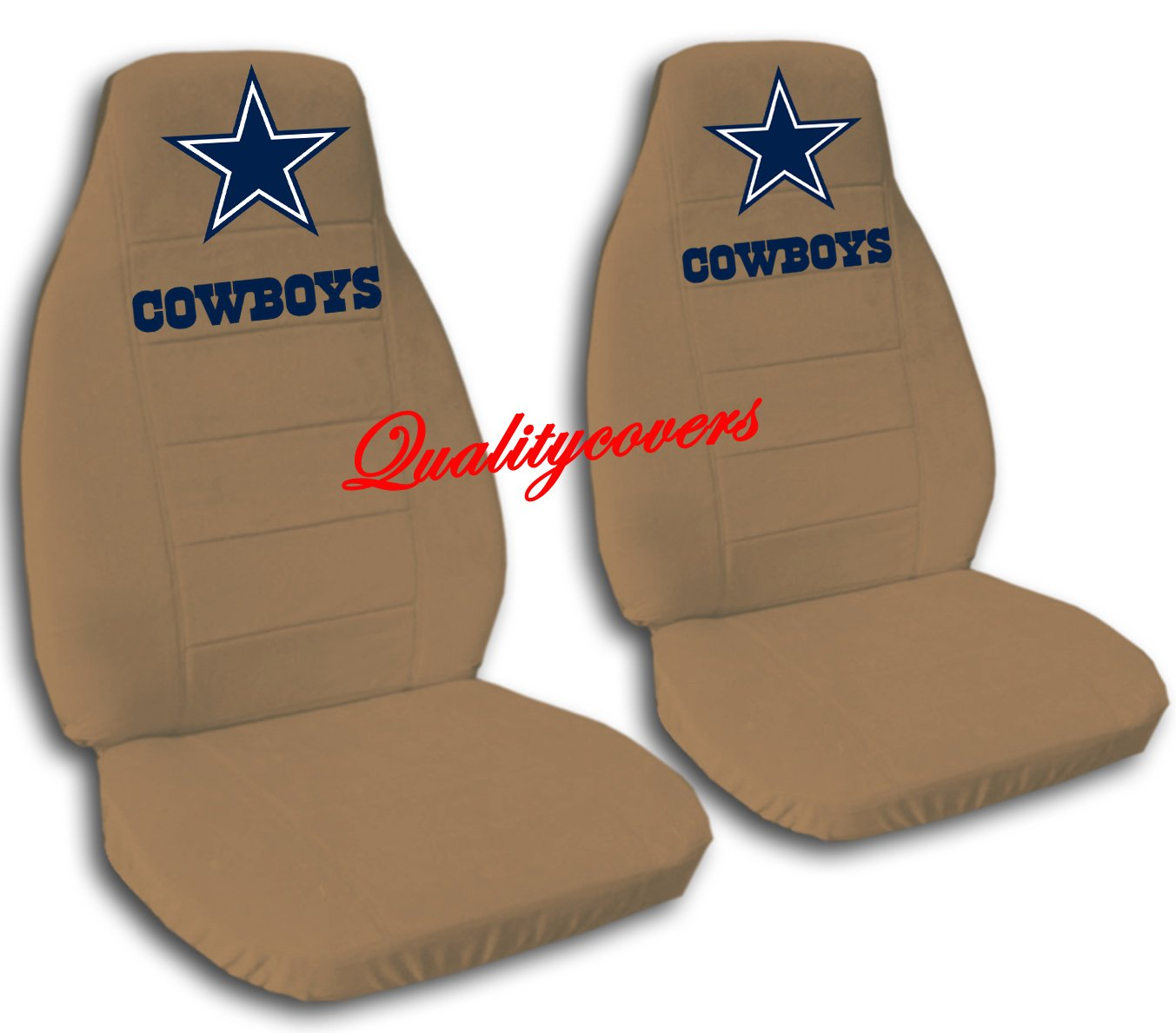 2 Brown Dallas seat covers for a 2007 to 2012 Chevrolet Silverado. Side airbag friendly.