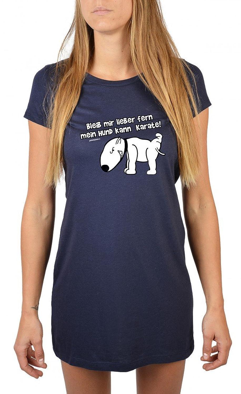 Goodman Design Women's Short Sleeve Night Shirt Blue Navyblau
