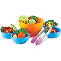 Learning Resources Kit per l'insalata perfetta, con verdura finta e ciotole