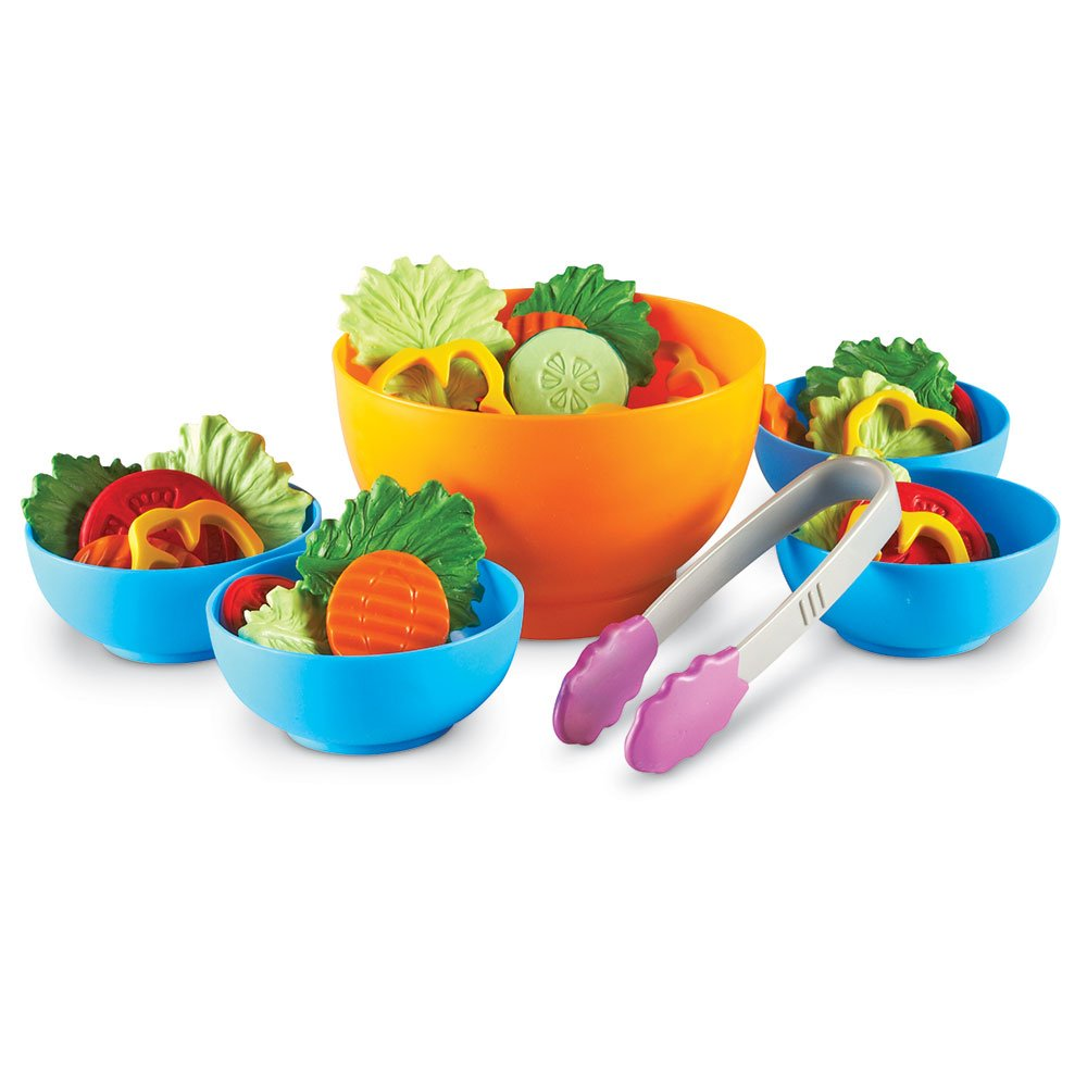 Learning Resources Garden Fresh Salad Set, Vegetables, Play Food, 38 Piece Set, Ages 2+ by Learning Resources