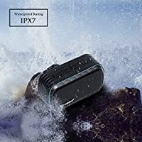 Bluetooth Speaker, IPX7 Water Resistant Myvision Outdoor Portable Stereo Speaker with HD Sound and Bass,Built-In Mic,Wireless Bluetooth 4.2/ Hands free Calling/TF Card Slot(black) by Myvision