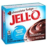 Jell-O Sugar-Free Instant Pudding & Pie Filling, Chocolate Fudge, 1.4-Ounce Boxes (Pack of 6)