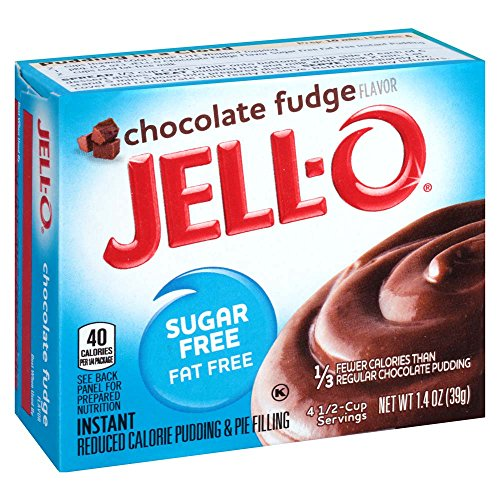 Jell-O Sugar-Free Chocolate Fudge Instant Pudding Mix 1.4 Ounce Box (Pack of 6) Low Fat Chocolate Pudding