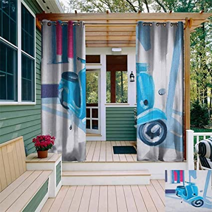 Amazon.com: Doneeckl - Cortina impermeable para exteriores ...