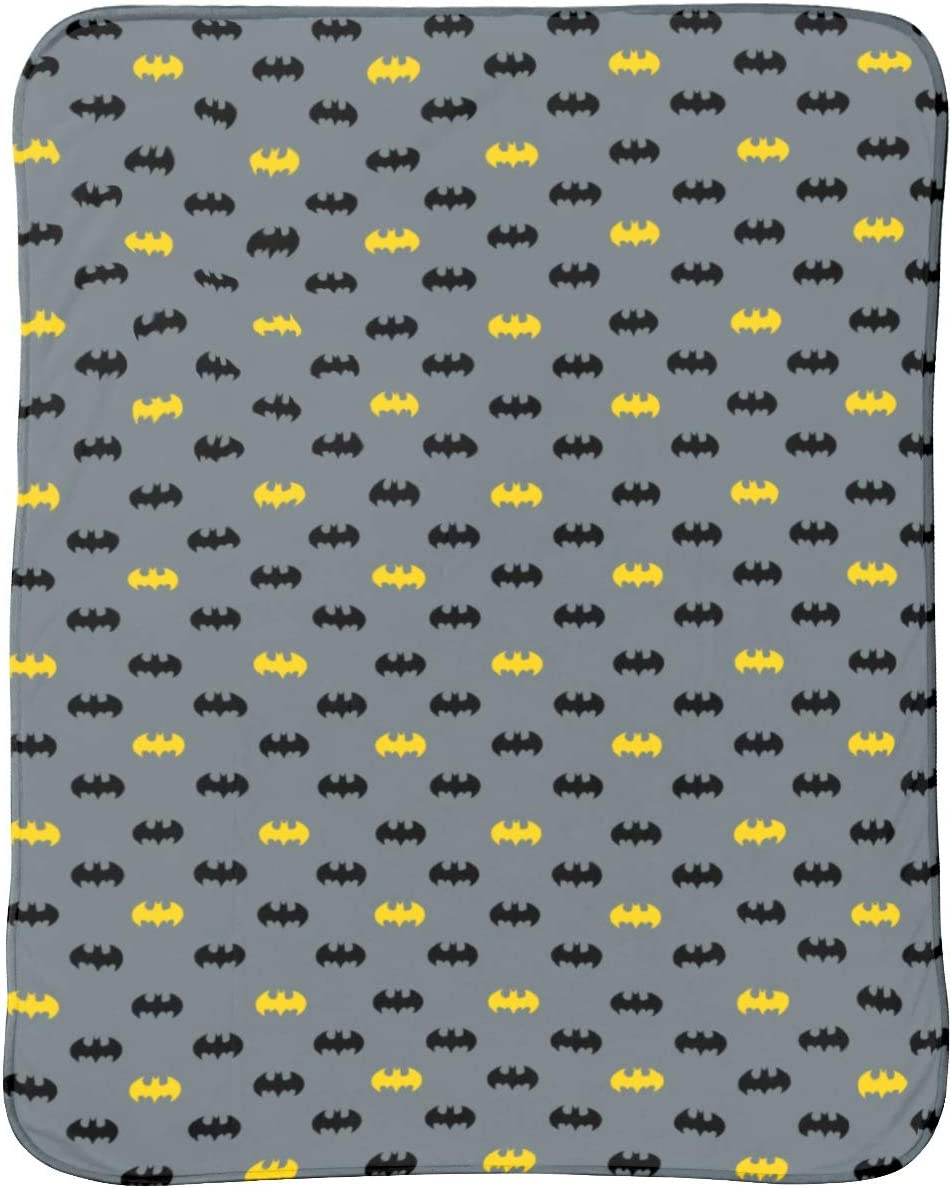 Tacto c/álido y Acogedor 130cm x 170cm 130 cm x 170 cm Poli/éster Warner Brothers Batman Dark Logo Forro Polar para sof/á Cama Manta de Felpa Gris Supersuave