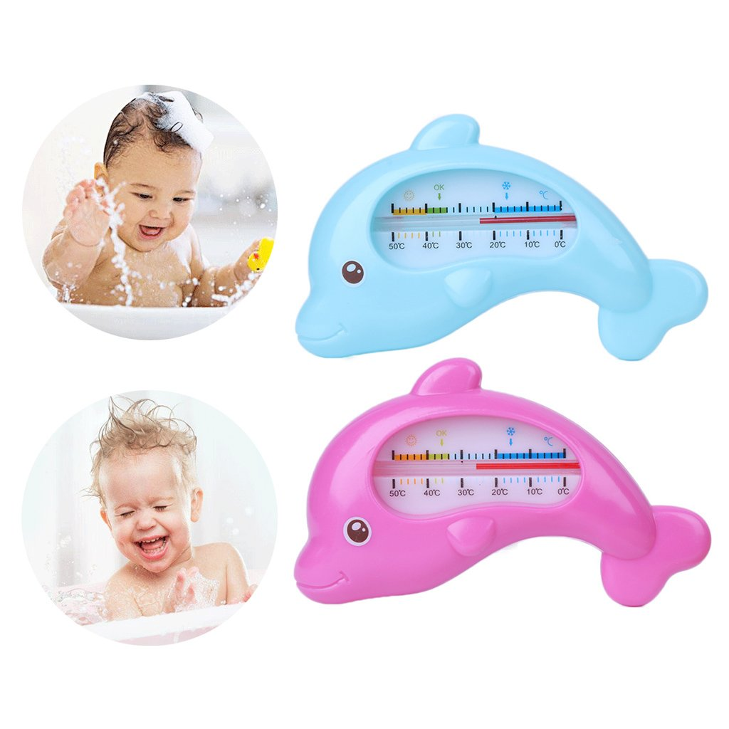 Blue giocattolo da doccia termometro da bagno a forma di delfino per bambini e neonati Autone