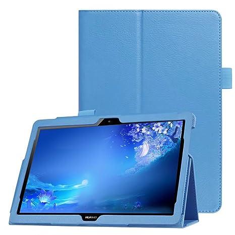 rivenditore di vendita 2a09f 598db Custodia per Huawei MediaPad T3 10, FANSONG Ultra Sottile Magnetico PU  Smart Cover con Slot per Penna - Auto Sveglia/Sonno Funzion Stand Smart  Case ...