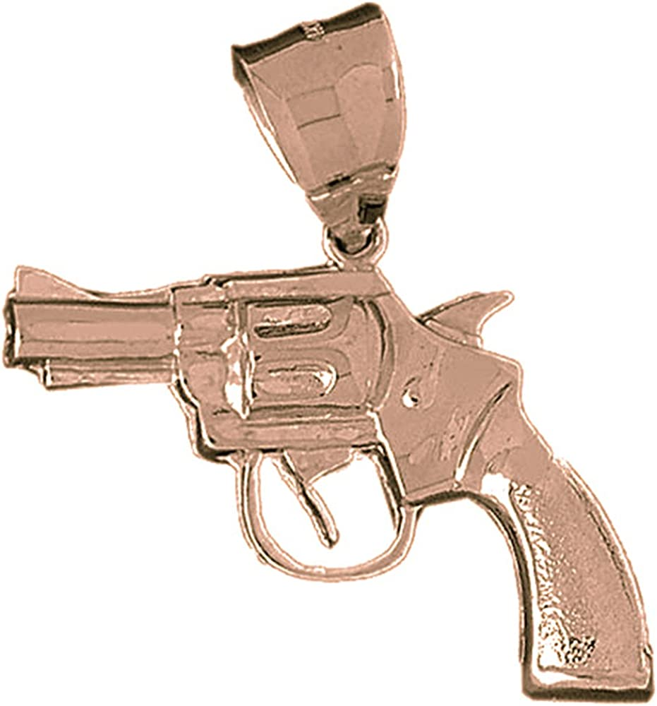 47 mm Jewels Obsession Rifle Pendant Sterling Silver 925 Rifle Pendant