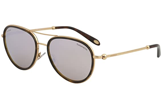 4d341d11dff8 Tiffany & Co. TF3059 TF/3059 6126/H6 Havana/Gold Pilot Polarized ...