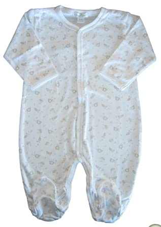 d292c58908e Kissy Kissy Baby-Boys Infant Marching Band Footie-White with Silver-Newborn