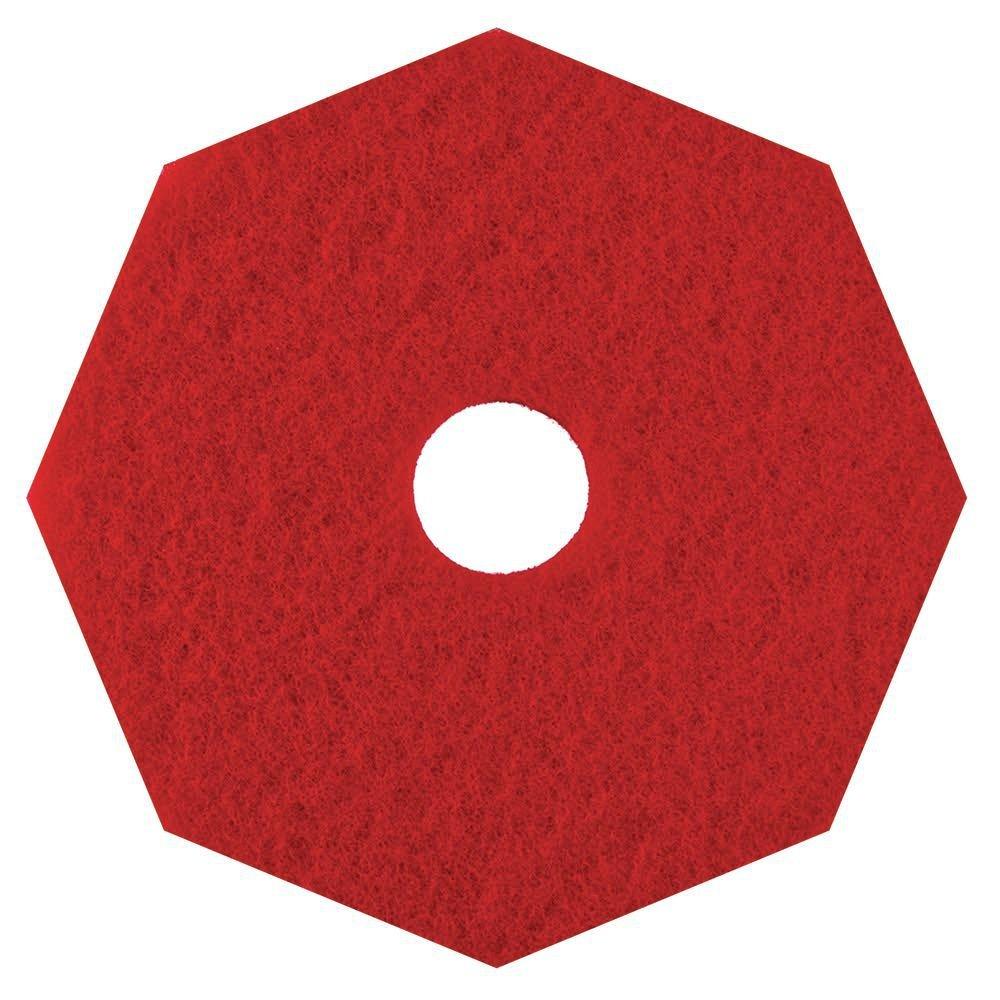 HUBERT Floor Buffing Pad Octagon Red - 20''Dia 5 Per Case
