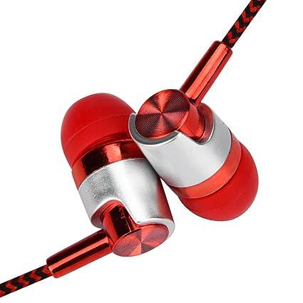 Auriculares con microfono deportivos , Amlaiworld Auriculares con Cable 3.5mm Auricular In-Ear HiFi