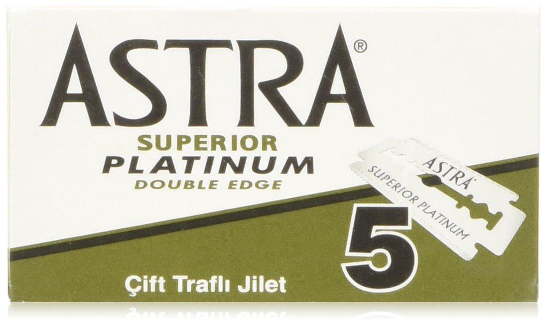 100 Astra Superior Platinum Double Edge Razor Blades