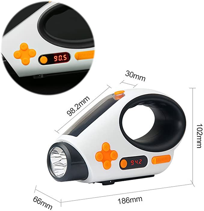 Solar Handkurbel Handkurbel Dynamo AM//FM//WB Radio LED Taschenlampe Ladung DHL