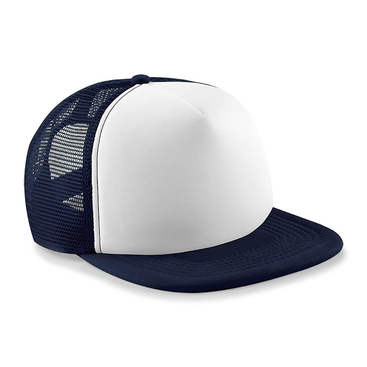 Vintage Snap Back Trucker Cap Navy/White