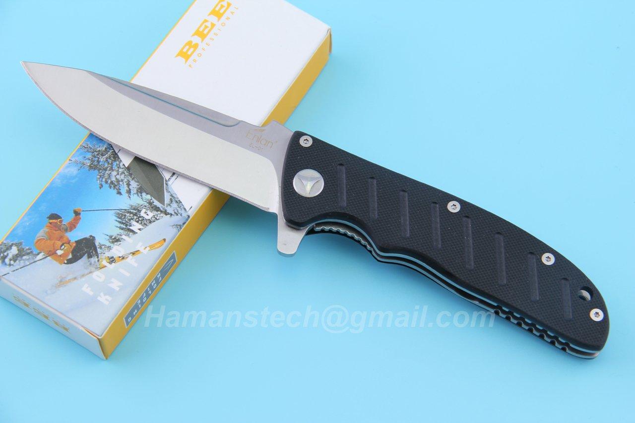 Amazon.com : Classic Enlan EL-01A Bee EL-01A Folding Knife G10 ...