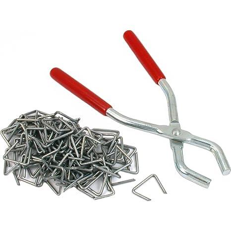 Generic Hog alicates para anillos para tapicería carcasa rígida 100 cierres de herramientas