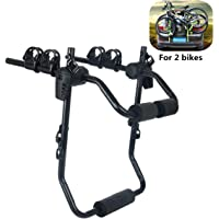 Bicycle Car Trunk Rack Bike Carrier for 2 Bikes Easy to Assemble Folding Design Space Saving Universal Version for Most…