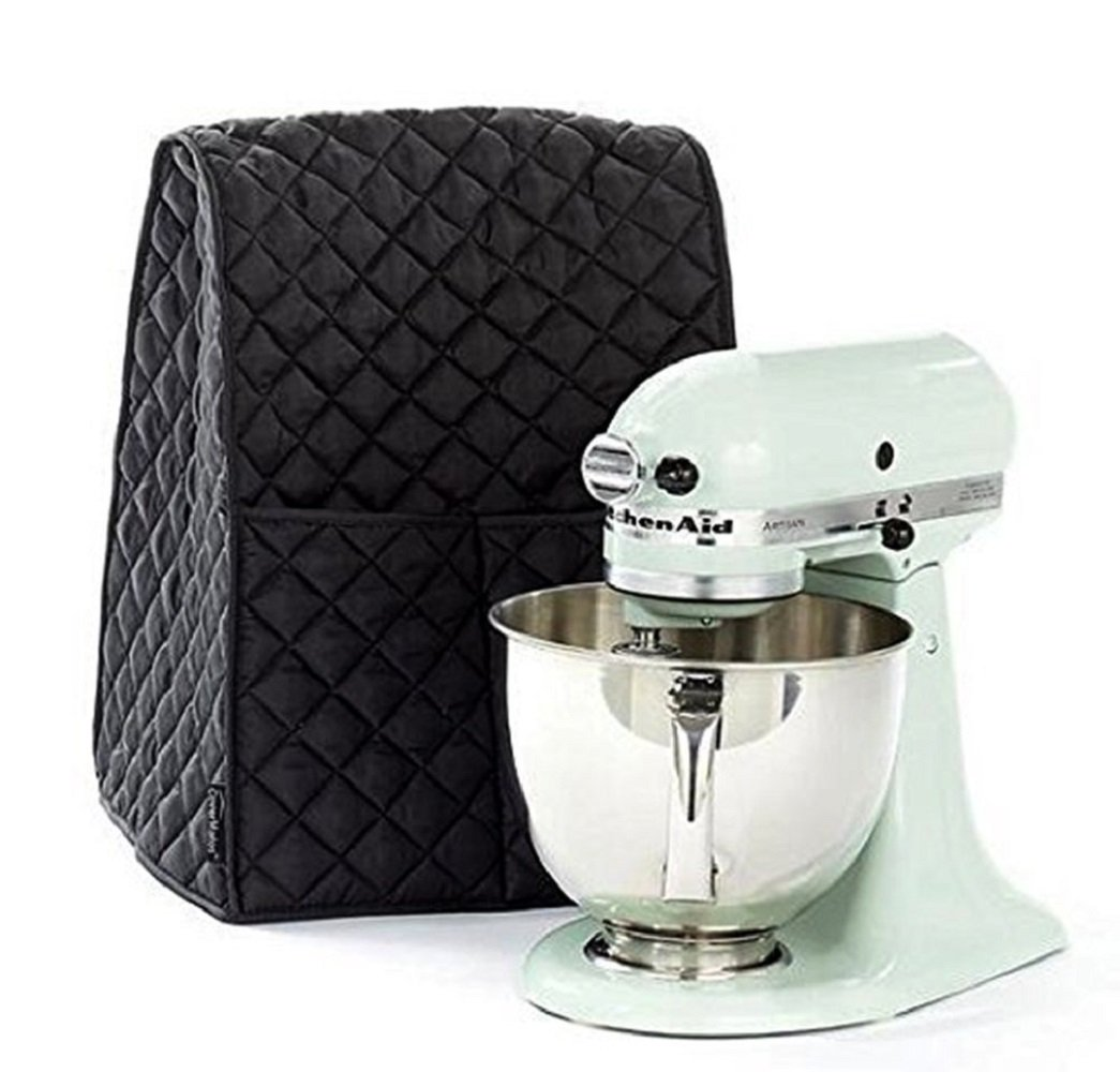 i-Auto Time Professional For KitchenAid Mixing Stand Home Ktchenware Bakeware Mixer Cover (Black)