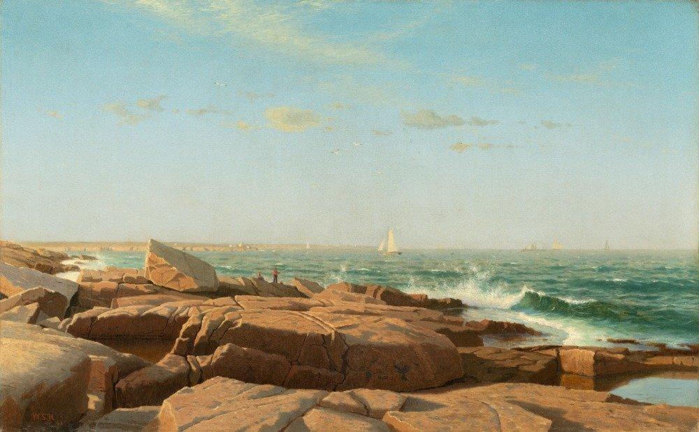 ナラガンセット湾 – 傑作クラシック – アーティスト: William Stanley Haseltine C。1864 12 x 18 Art Print LANT-57924-12x18 B017Z70IOI 12 x 18 Art Print12 x 18 Art Print
