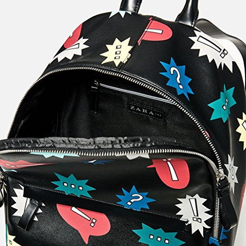 negro para Bolso negro Piel Sulmoe mujer mochila de xgzwwq7P
