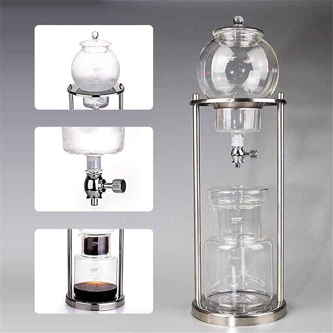 Cafetera Cold Brew Dripper de 600 ml con filtro de cristal, Cold Drip Coffee Maker, botella de café espresso para helado, cafetera para café y té fríos: Amazon.es: Hogar