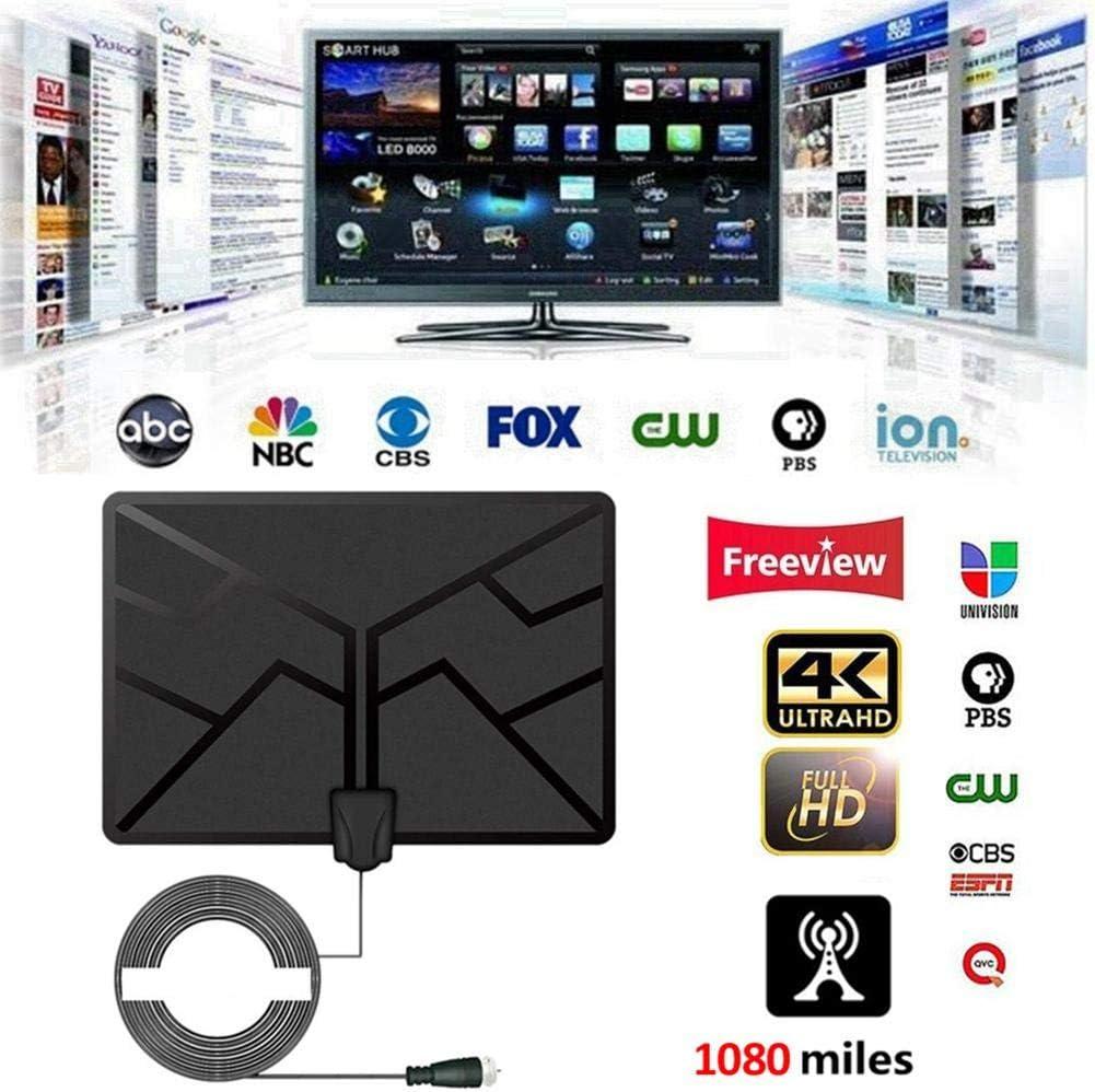 hinffinity Antena TV 4K HDTV Antena TV Digital Manta para Canales Locales con Soporte Amplificador de señal TV Radius Surf Fox Antena TV HD Antena Vista Gratuita Canales HD (2019 Novedad): Amazon.es: