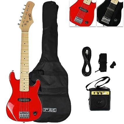 3Rd Avenue STX30RDPK - Paquete junior de guitarra eléctrica