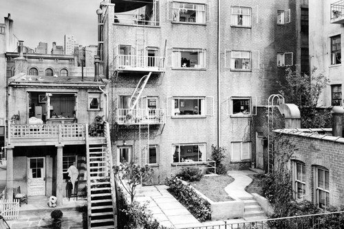 Rear Window Great Image of New York Apartment Used for Filming 24x36 Poster Silverscreen
