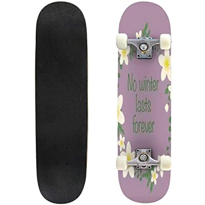 """Be in Love with Your Life Slogan Lovely Graphic Design and Cute Outdoor Skateboard 31""""x8"""" Pro Complete Skate Board Cruiser 8 Layers Double Kick Concave Deck Maple Longboards for Youths Sports : Sports & Outdoors"""