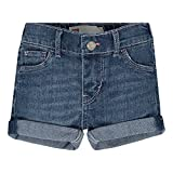 Levi's Girls' Summer Love Shorty Shorts, Fiji Blue, 18M