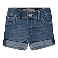 Levi's Baby Girls' Bubble Shorts, Claret Red/Peacoat, 3/6M