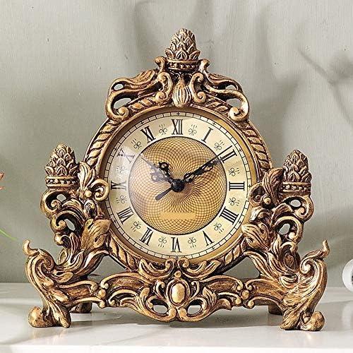レトロ時計クリエイティブリビングルーム樹脂置時計装飾品寝室研究ミュートクロック装飾工芸家の装飾 正確な時間