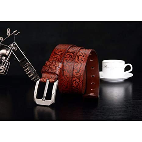 SHOPZZ Cinturon De Hombre Cinturón Hombre Marrón Cinturón De Cuero ...