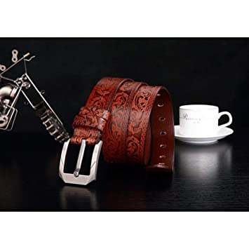 SHOPZZ Cinturon De Hombre Cinturón Hombre Marrón Cinturón De ...