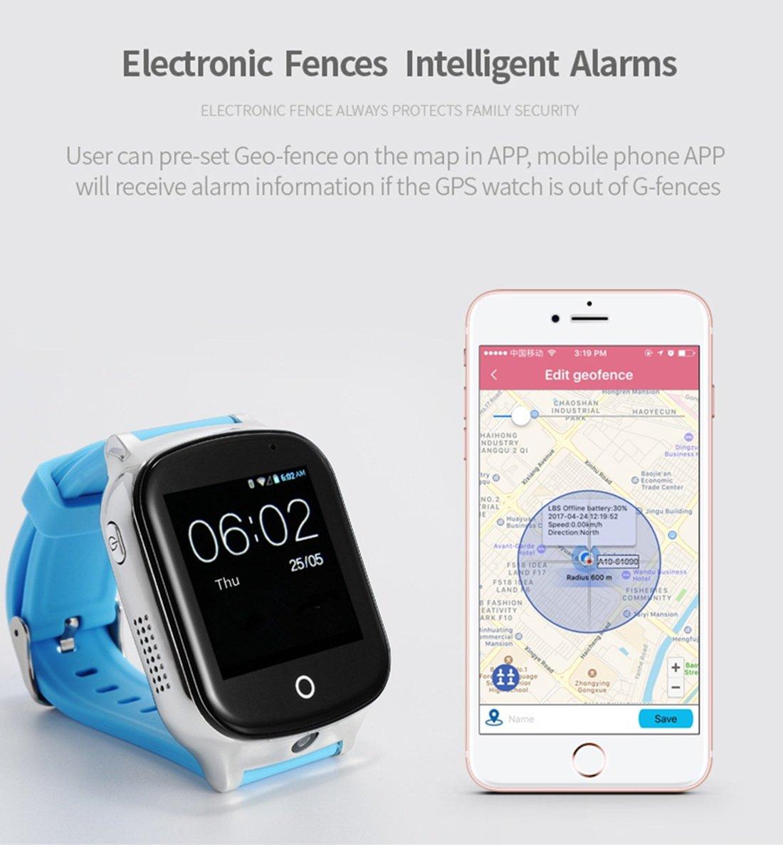 XHL Art 3G Smart GPS Tracker Watch Ancianos Niños Wristwatch Localizador WIFI Con Cámara Mensaje de Voz SOS APP Gratuito IOS Teléfono Android A19, ...