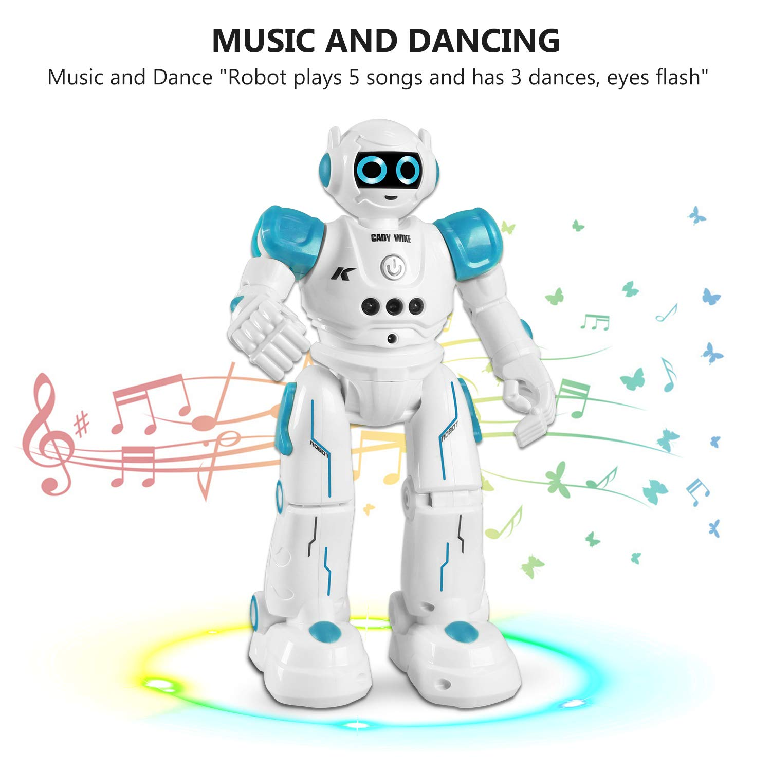 IHBUDS Robot Toy for Kids, Smart Robot Kit with Remote Control & Gesture Control, Perfect Robotics Gifts for Boys Girls Learning Programmable Walking Dancing Singing (Blue) by IHBUDS (Image #3)