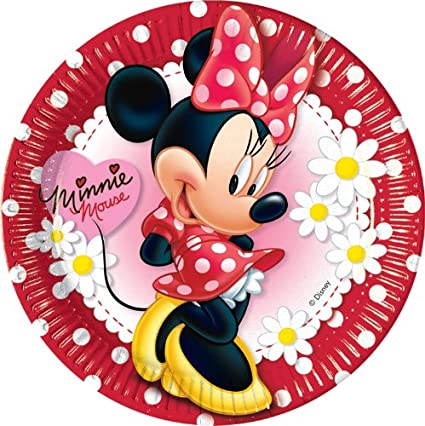 10ct Minnie Mouse Polka Dot 9in Paper Plates  sc 1 st  m.amazon.com & Amazon.com: 10ct Minnie Mouse Polka Dot 9in Paper Plates: Toys u0026 Games