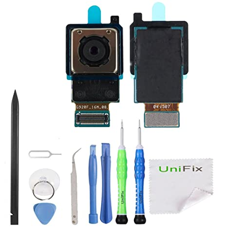 Unifix Rear Facing Primary Camera Replacement Part for Samsung Galaxy S6  G920F G920A G920T G920R G920V G920P + Toolkit