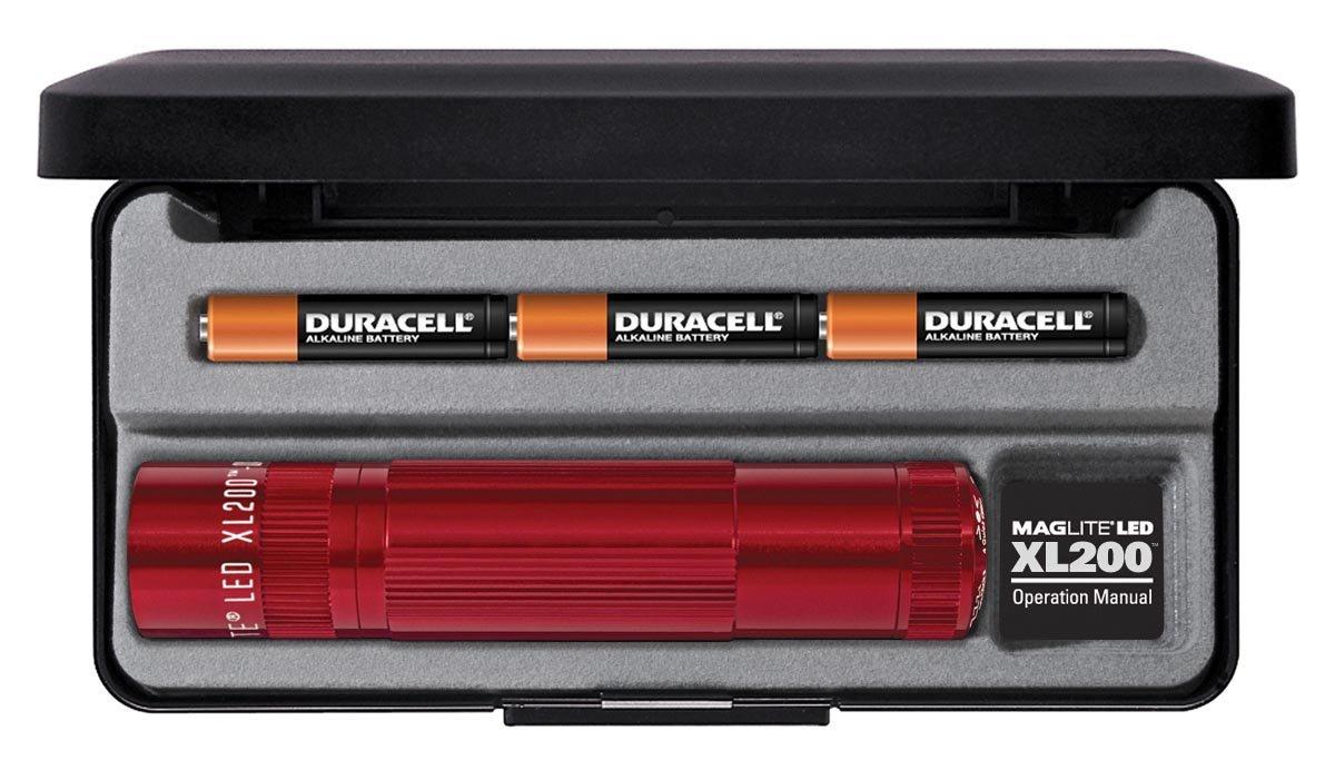 Linterna Maglite : XL200 LED 3-Celdas AAA Rojo