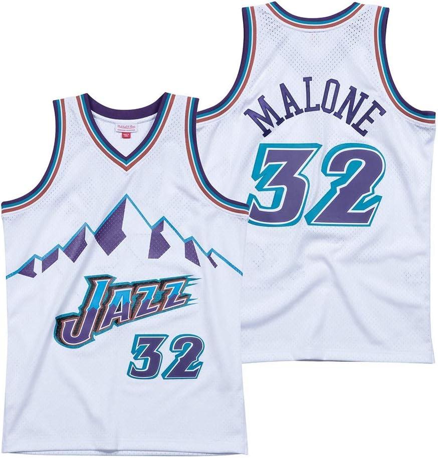 Helen S-XXL Maglia Basket Utah Jazz # 32 Le Karl Malone Pallacanestro Jersey.Hardwood Classica Swingman-Heimtrikot
