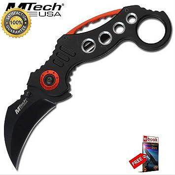Amazon.com: Mtech - Cuchillo táctico de combate con bolsillo ...