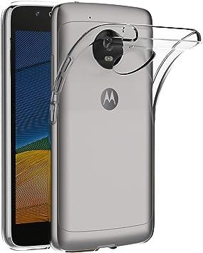 REY Funda Carcasa Gel Transparente para Motorola Moto G5, Ultra Fina 0,33mm, Silicona TPU de Alta Resistencia y Flexibilidad: Amazon.es: Electrónica