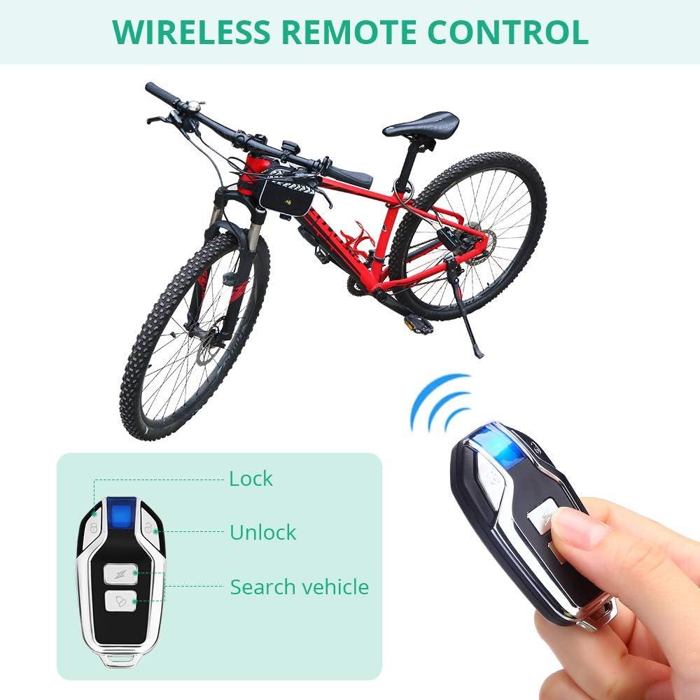 Anti Theft Waterproof Password Control Cycling Bicycle Alarm Lock High Decibel