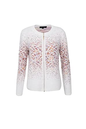 Ladies Women Knitted Front Zip Cardigan Warm Long Sleeve Jumper Sweater  Knitwear Coat (M L(14-16) 942a532e7