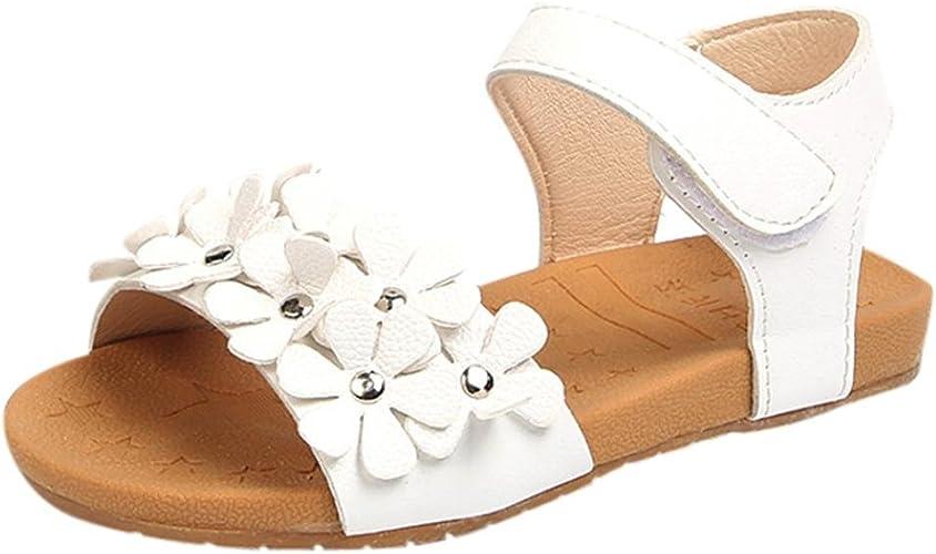 Baby Girl Bow Sandals Flat Heels Toddler Kids Summer Party Beach Shoes Walker