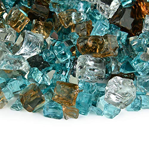 Barksdale - Fire Glass Blend for Indoor and Outdoor Fire Pits or Fireplaces | 10 Pounds | 1/2 Inch (Pit Marble Fire)