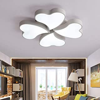 DRQ Ceiling Lamp Mordern Simple Round Iron Ceiling Light Nordic Creative Heart-shaped Foyer Living Room Bedroom Kitchen Crystal Fixture 220V,B-8heads-75cm